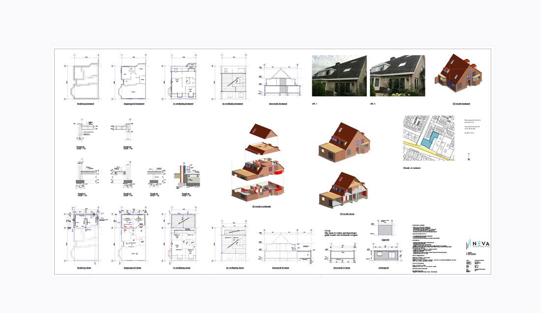 Uit- en opbouw royale halfvrijstaande villa