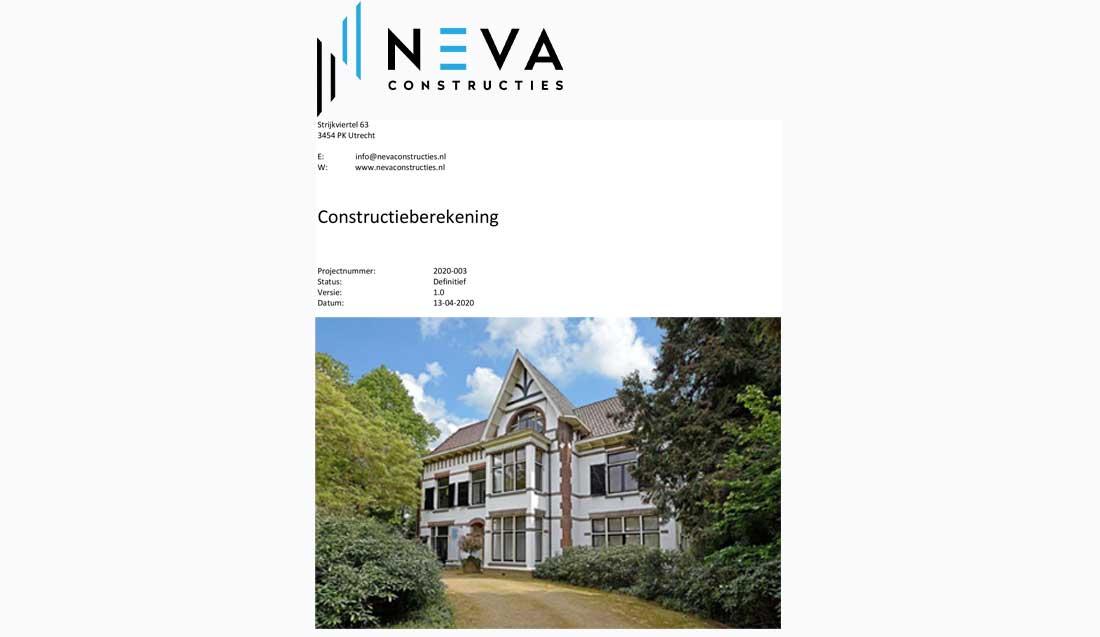 Constructieberekening Bilthoven