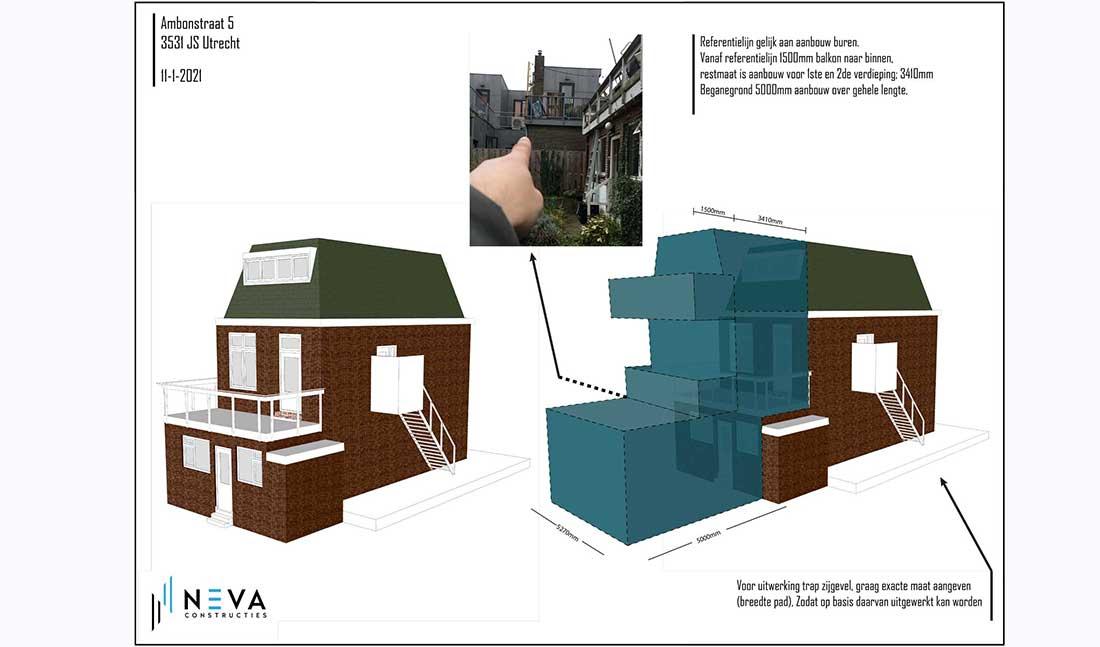 Aanbouw meerdere bouwlagen Utrecht